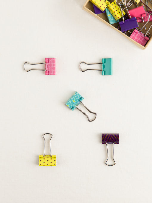 Bright Small Binder Clips, Set of 24