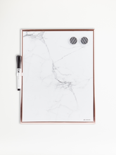 "Rose Gold Framed Marble Dry Erase Board, 11"" x 14"""