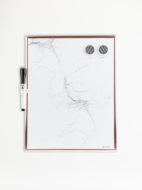 Rose Gold Framed Marble Dry Erase Board, 11