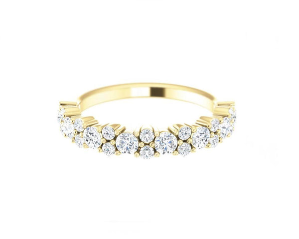14k Solid Gold Round Diamond Ring