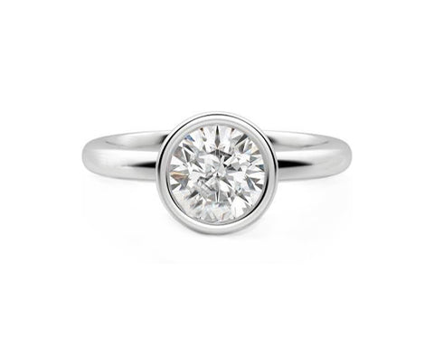 Diamond Bezel Engagement Ring