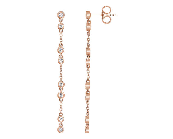 Diamonds on a Chain Earrings