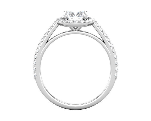 Platinum Halo Diamond Engagement Ring (setting only)