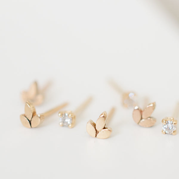 Petite Leaves Earrings