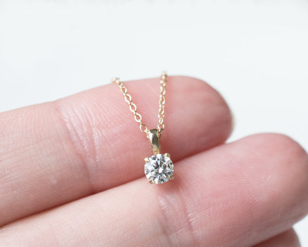 vrai and oro diamond necklaces 1/4 ct diamond necklace