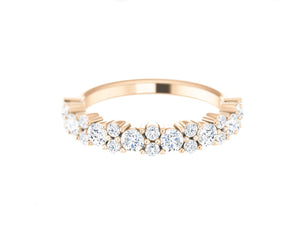 14k Solid Rose Gold Round Diamond Ring