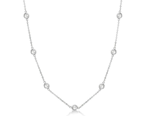 2ct Diamond Station Necklace