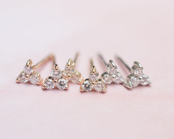 Trio Diamond Earrings