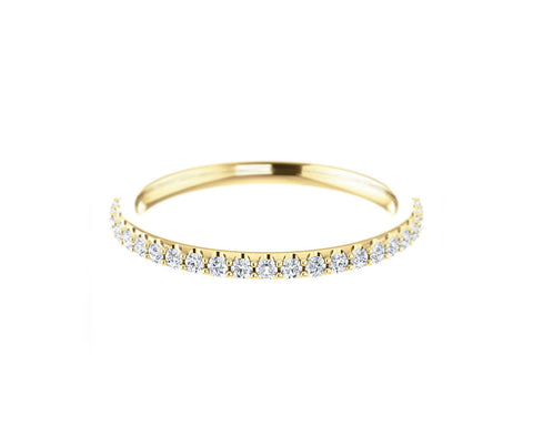 Solid Gold 14k Diamond Band