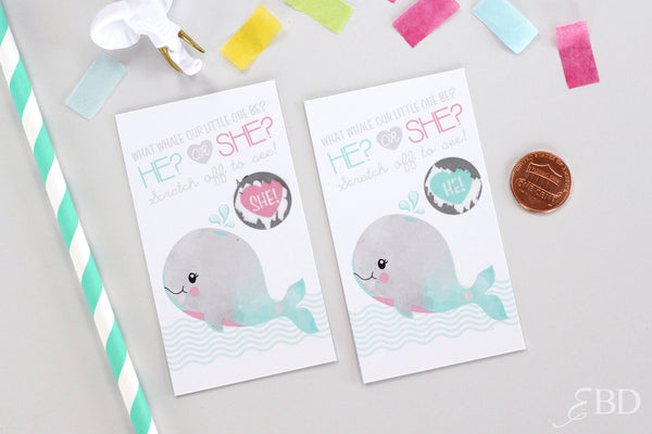 10 Gender Reveal Scratch off Cards