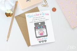 2 Custom Baby Gender Reveal Scratch Off Note Cards