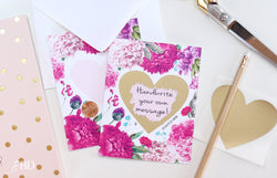 2 DIY Flower Heart Scratch Off Note Cards