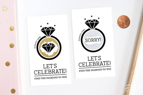 10 Black Bridal Shower Scratch Off Cards
