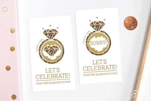 10 Gold Bridal Shower Scratch Off Cards