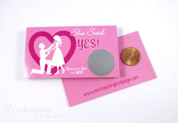10 Pink Bridal Shower Scratch Off Cards