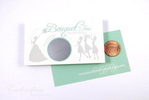 10 Mint Green Bridal Shower Scratch Off Cards