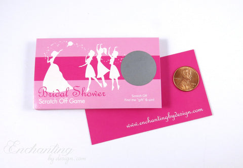 10 Hot Pink Bridal Shower Scratch Off Cards