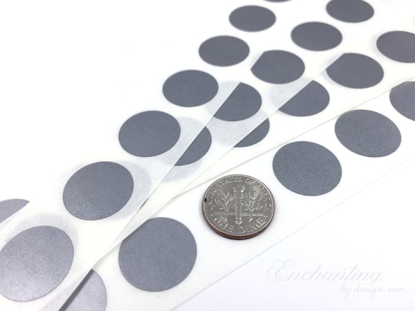 Silver .70 inch Round scratch off stickers