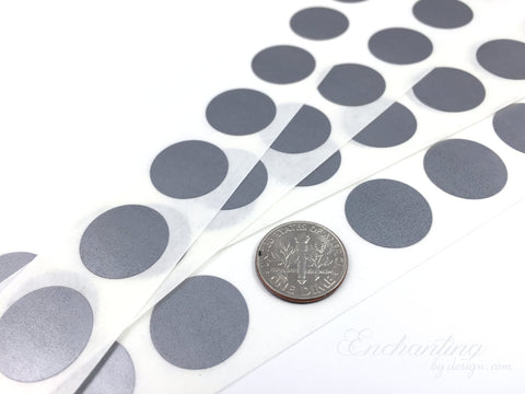 Silver 70 inch round scratch off stickers