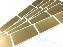 Gold 1x2 inch Rectangle scratch off stickers