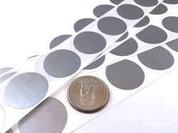 Silver 1 inch Round scratch off stickers