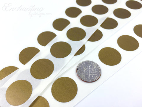 Gold .70 inch Round scratch off stickers