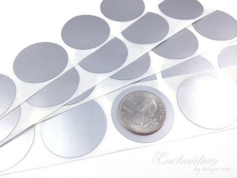 Silver 1.25 inch Round scratch off stickers