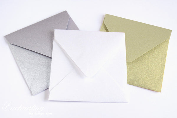 10 Mini Square Envelopes