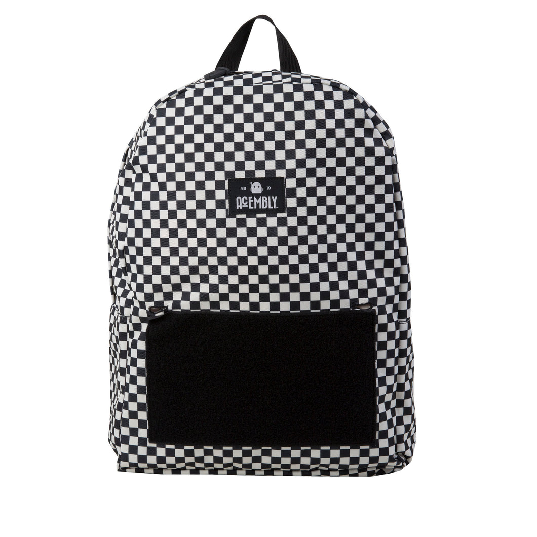 Black/White Checkered Bag