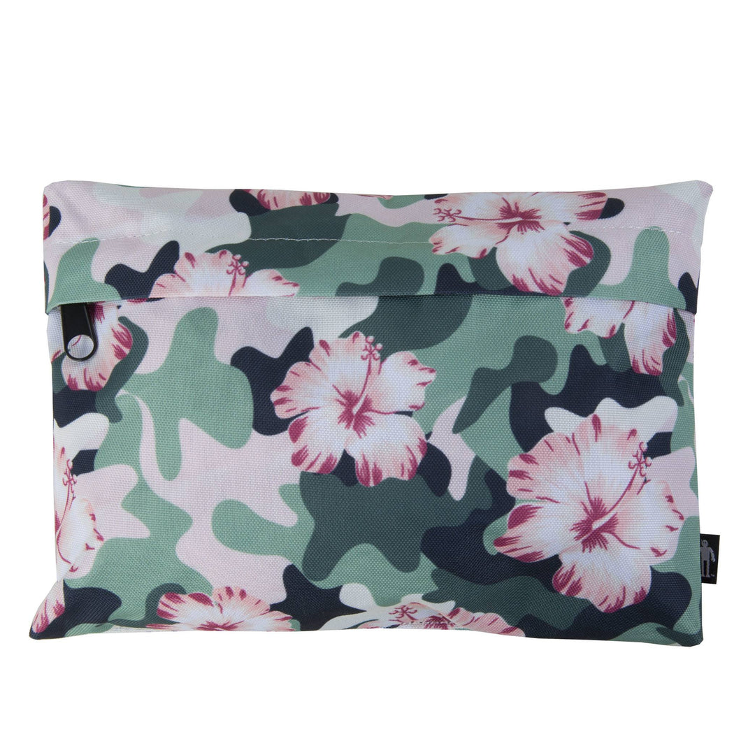 Hibiscus Camo Pouch