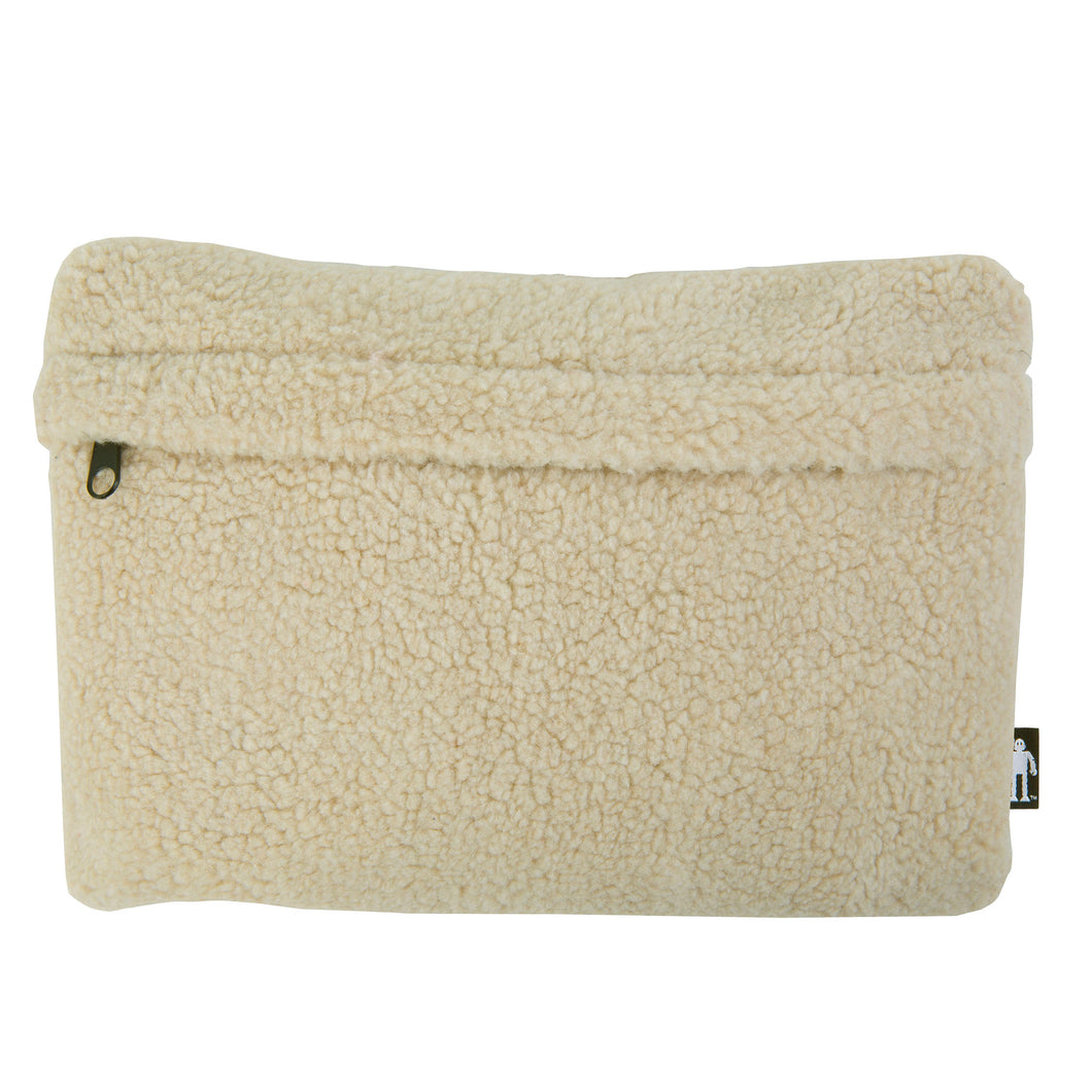 Acembly Cream Sherpa Pouch, front view