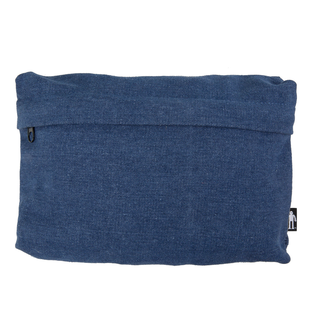 Acembly Medium Denim Pouch, front view