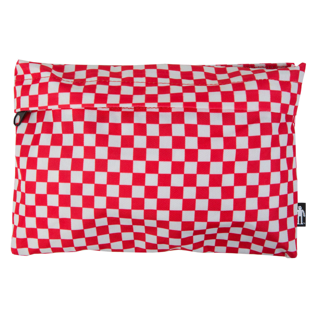 Acembly Red Checkered Pouch, front view