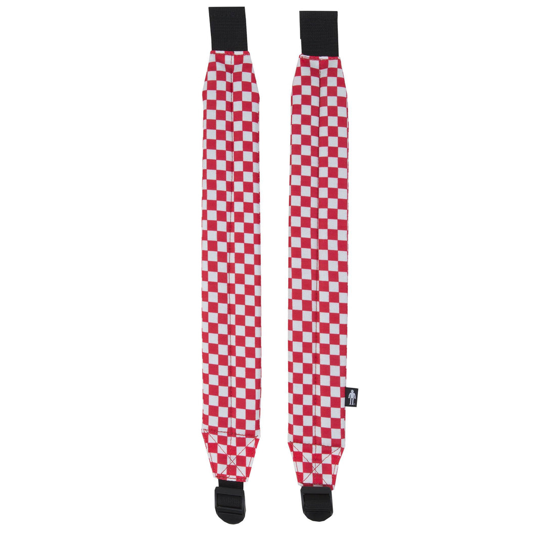 Acembly Red/White Check Straps, front view