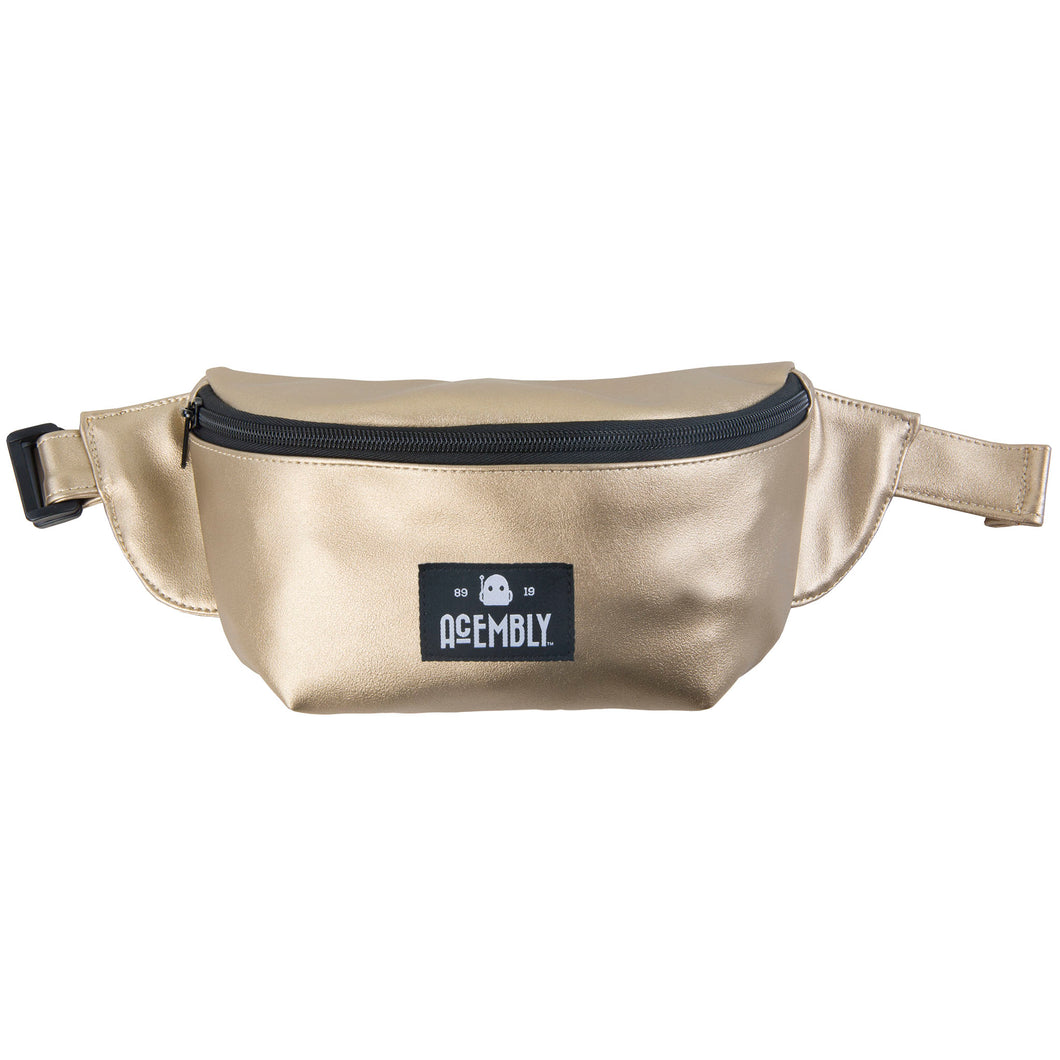 Acembly Metallic Gold Waistpack, front view