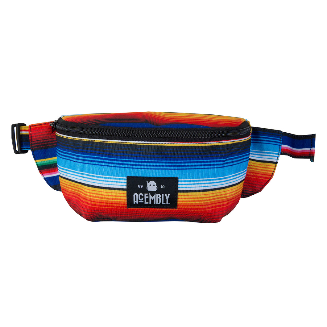 Acembly Multi Stripe Waistpack, front view