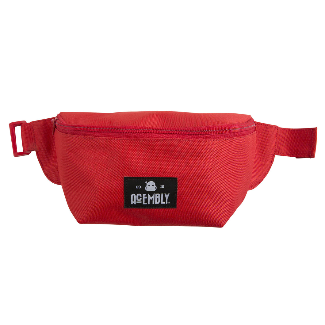 Acembly Red Waistpack, front view