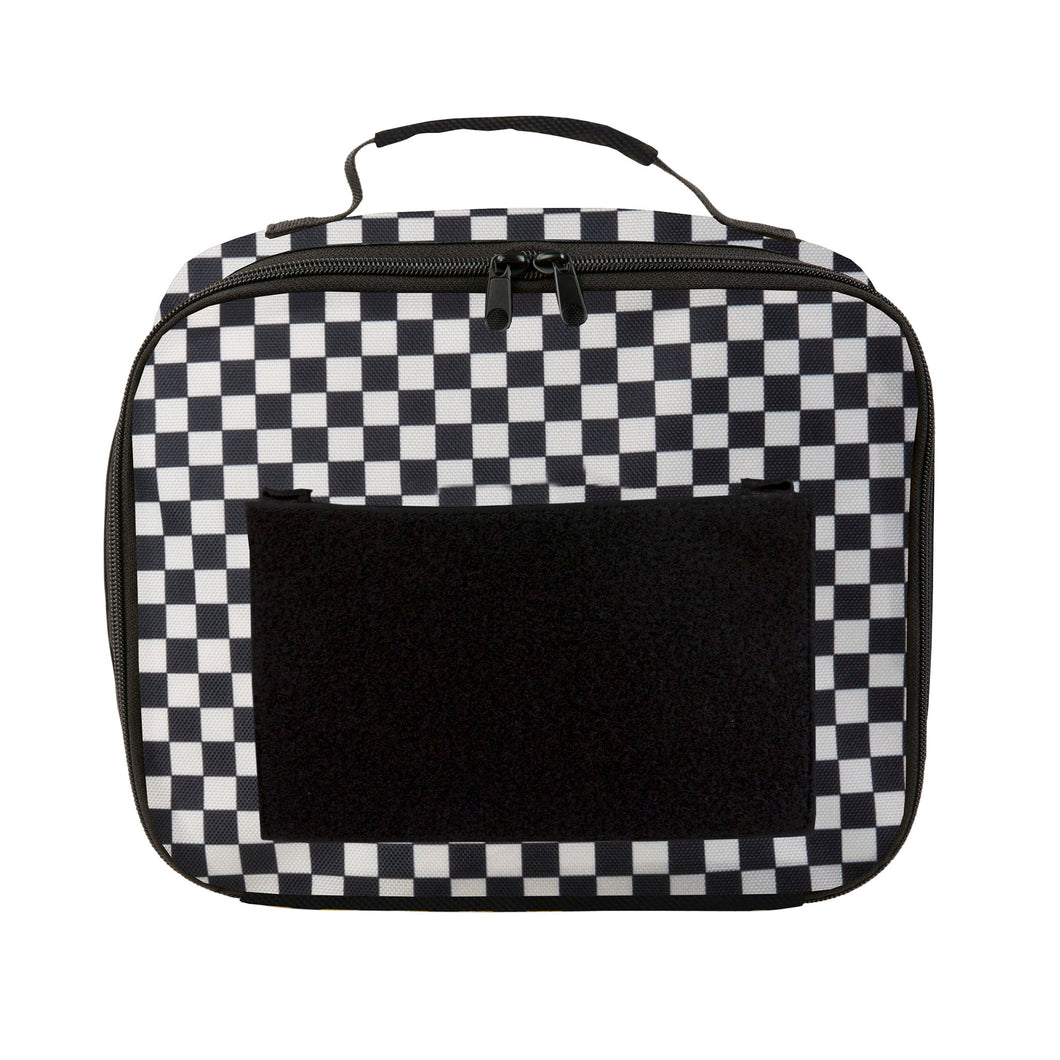 Acembly Black/White Check Lunch Box, front view