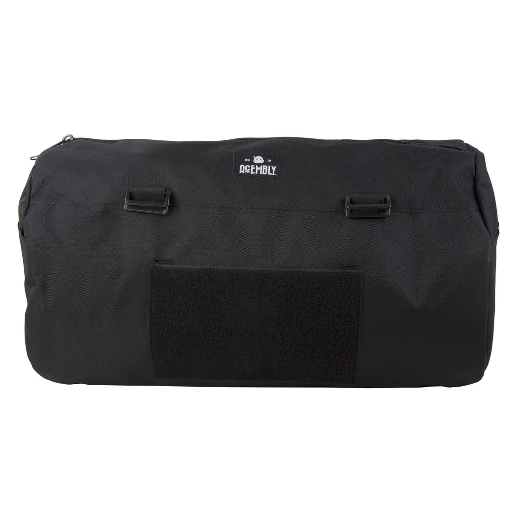 Acembly Black Duffel Bag, front view