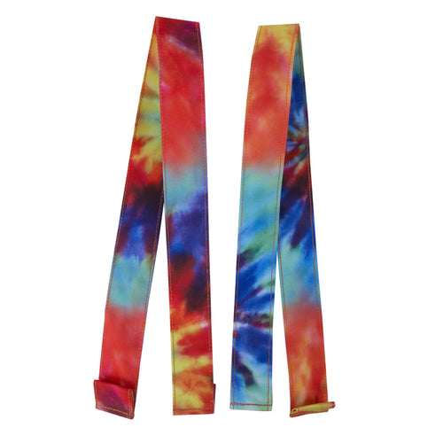 Acembly Tie Dye Duffel Straps, front view