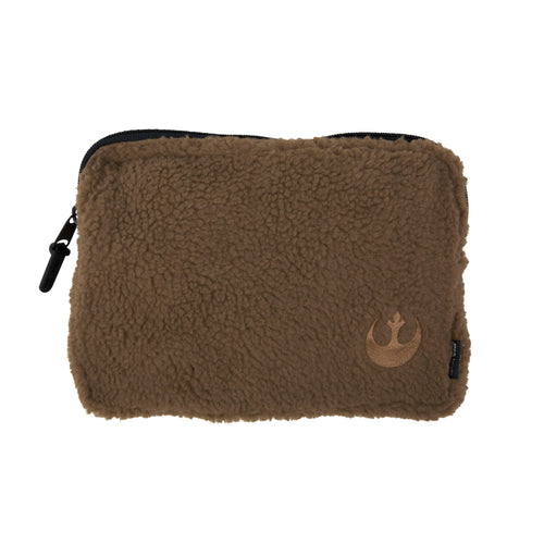 Acembly x Star Wars Brown Sherpa Backpack Pouch, front view