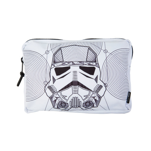 Acembly x Star Wars Storm Trooper Line Art Backpack Pouch, front view