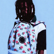 Man wearing Acembly x Chinatown Market Rose Backpack