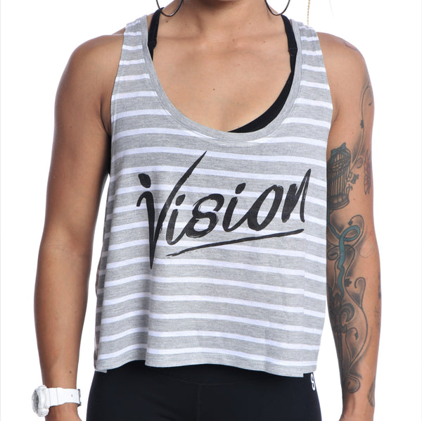 Striped Vision Crop Tank