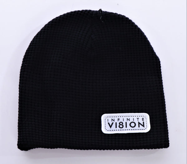 Waffle Knit Infinite Vision Patch Beanie