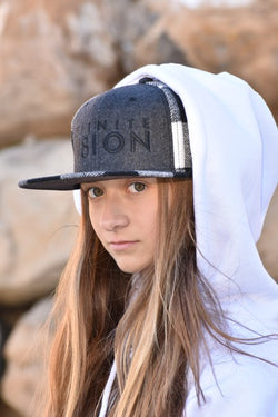 Wool Blend Black & White Plaid Snapback Hat