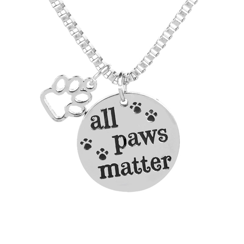 All paws matter animal footprint pendant charm necklace wowzer gifts next aloadofball Choice Image