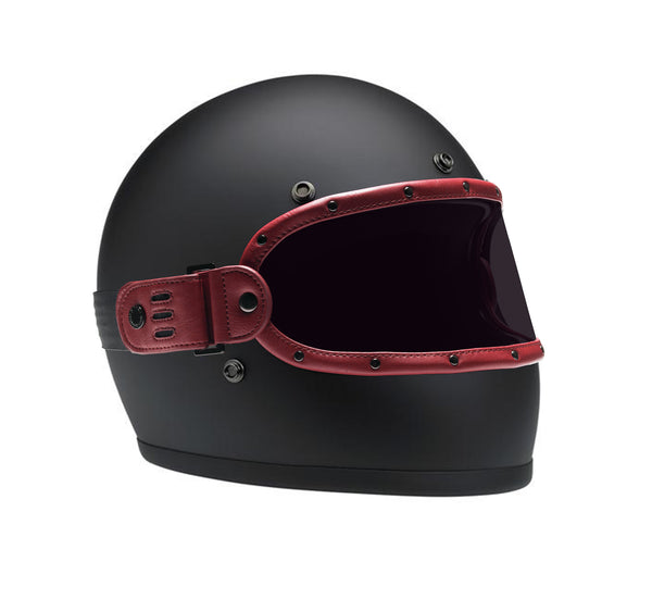 FLAT BURGUNDY // KNOX HELMET SET