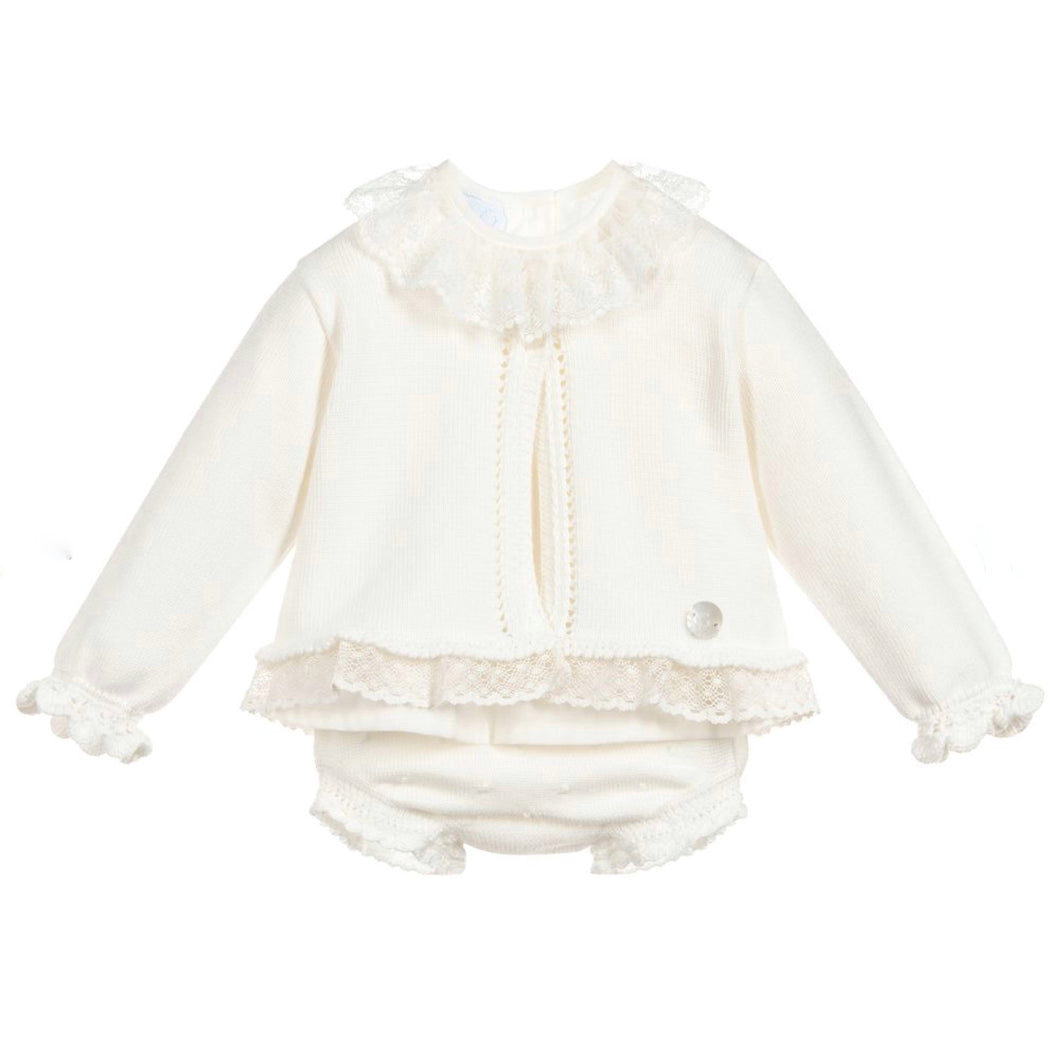 Granlei Baby Girls Ivory 3 Piece Set