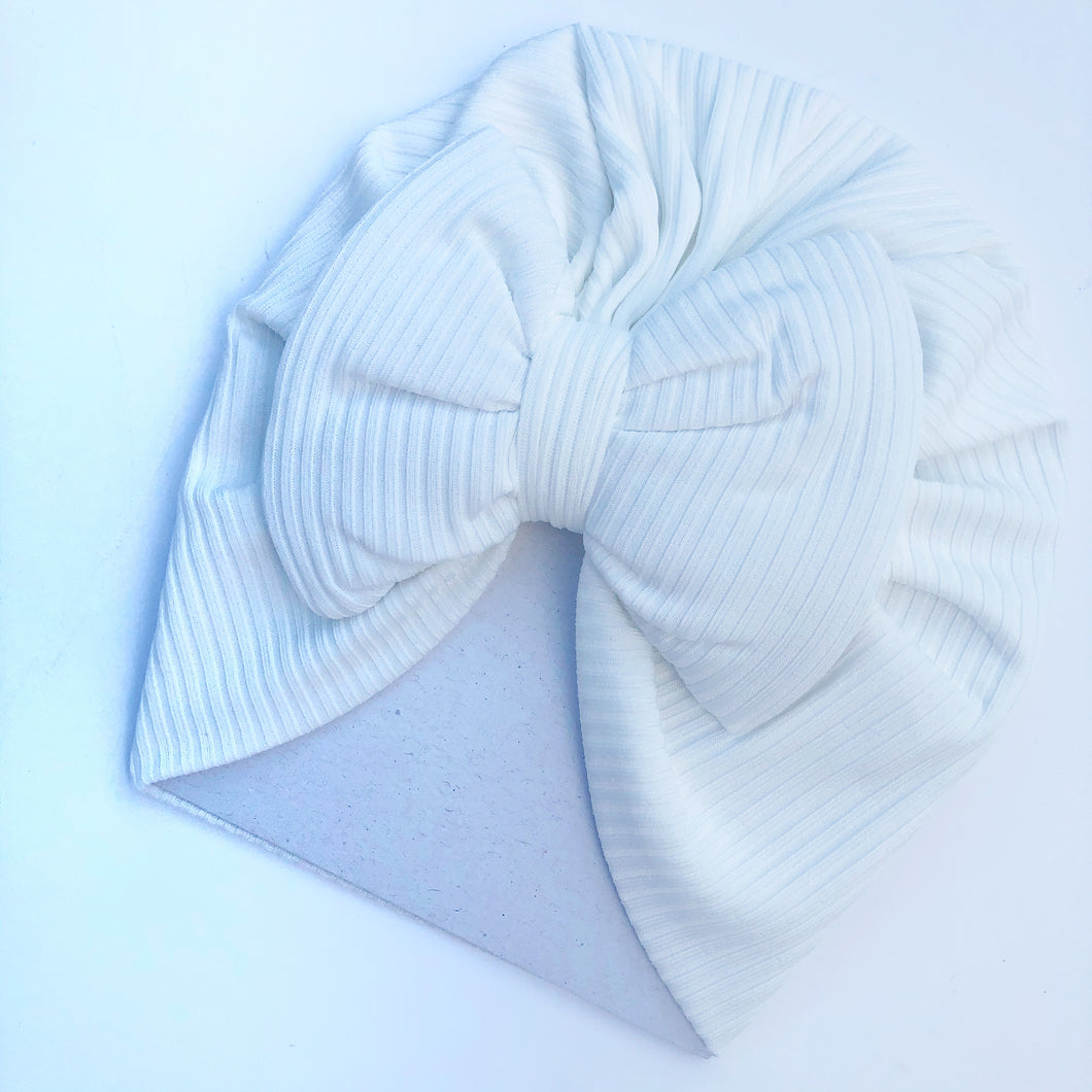 Caramelo Girls White Jersey Turban